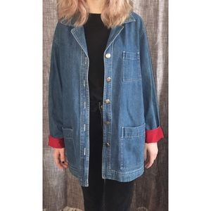 Vintage Chico's Design Embroidered Denim Jacket